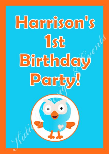 Shop Personalised Giggle Hoot Party Decorations Supplies