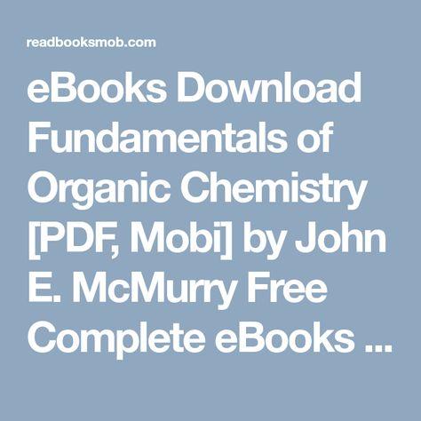 Organic Chemistry Mcmurry Pdf