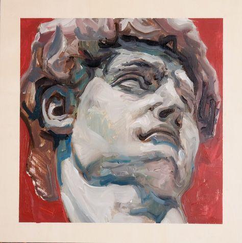Buy Michelangelo's David, Oil painting by Kiel Mitchell on Artfinder. David Painting, Painting & Drawing, Oil Painting Portraits, Sculpture Painting, Aesthetic Painting, Aesthetic Art, Painting Inspiration, Art Inspo, Acrylic Painting Canvas