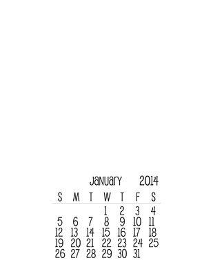 Free Printable 2014 Calendar Template Free Printable Printable