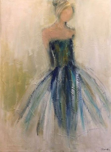 Holly Irwin Blue Taffeta 48x36 Oil On Canvas Dk Gallery