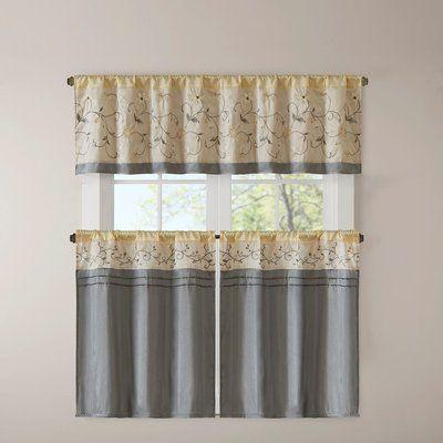 Ellis Tailored Tier Curtain Set Of 2 Kitchen Curtains Curtains Kitchen Curtain Sets
