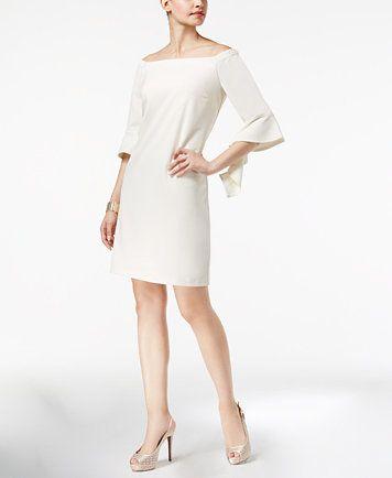 Thalia Sodi Off The Shoulder Shift Dress Created For Macy S Macys Com Dresses Long Sleeve Casual Dress Casual Dresses For Women