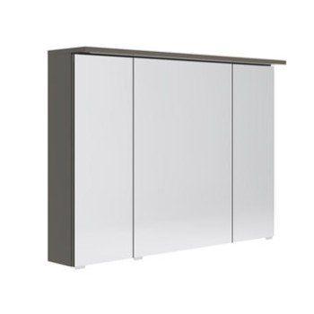 Armoire de toilette lumineuse l. 100 cm, gris Opale | Leroy Merlin ...