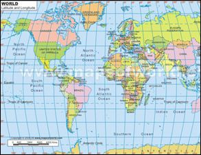 Printable Old World Globe To Download This Map Please Prove - World map with latitude and longitude lines