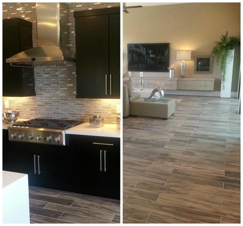 #TileTuesday features a fabulous modern #install using our Modena and Flash Collections!