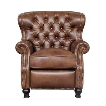 Keleigh Leather Manual Recliner