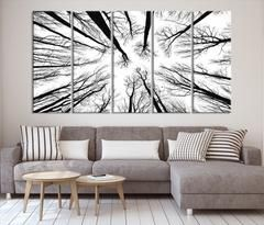 Dry Tree Branches Wall Art Canvas Print Forest Canvas Art Print Mc17 In 2020 Large Canvas Wall Art Forest Wall Art Wall Art Canvas Prints