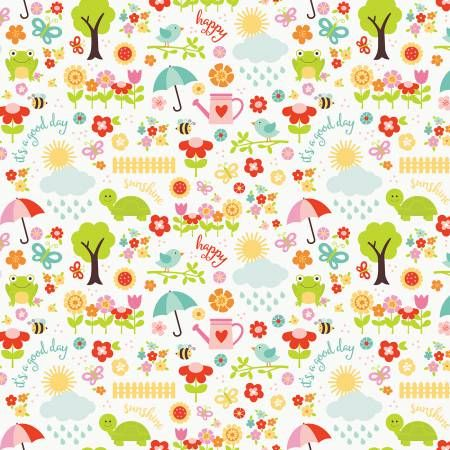 floral print fabric Riley Blake Designs Bloom Where You/'re Planted Fabric