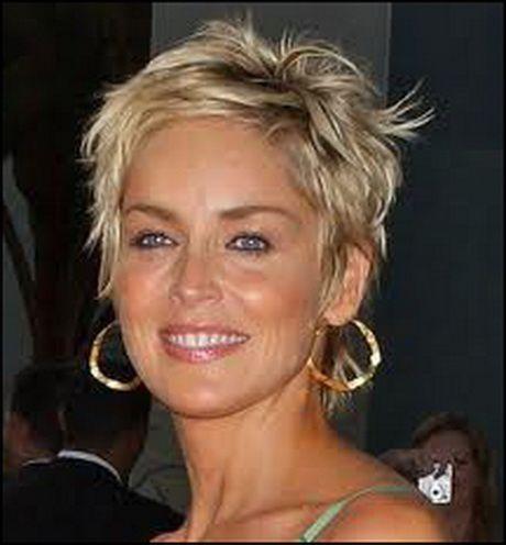 Sharon Stone Cheveux Courts Cheveux Courts Coiffure Courte Coupe De Cheveux Courte