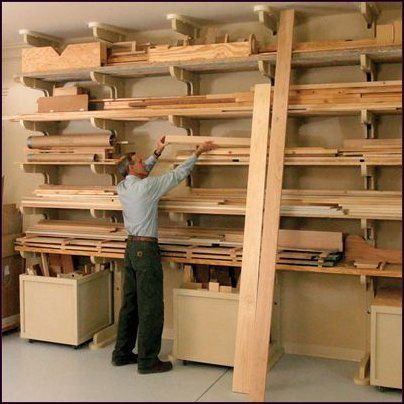 Planning A Garage Woodworking Shop In 3 Easy Steps Adams Easy Woodworking Projects Lumber Storage Woodworking Articles Woodworking Storage