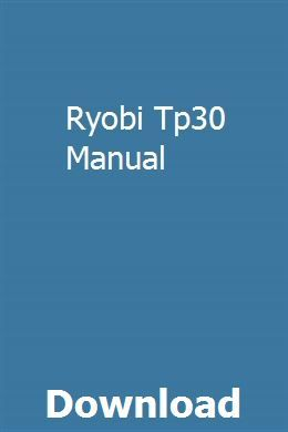 Ryobi Tp30 Manual Manual Owners Manuals Ford Probe