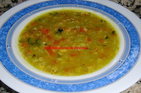 Recopilatorio de recetas : Sopa minestrone con thermomix
