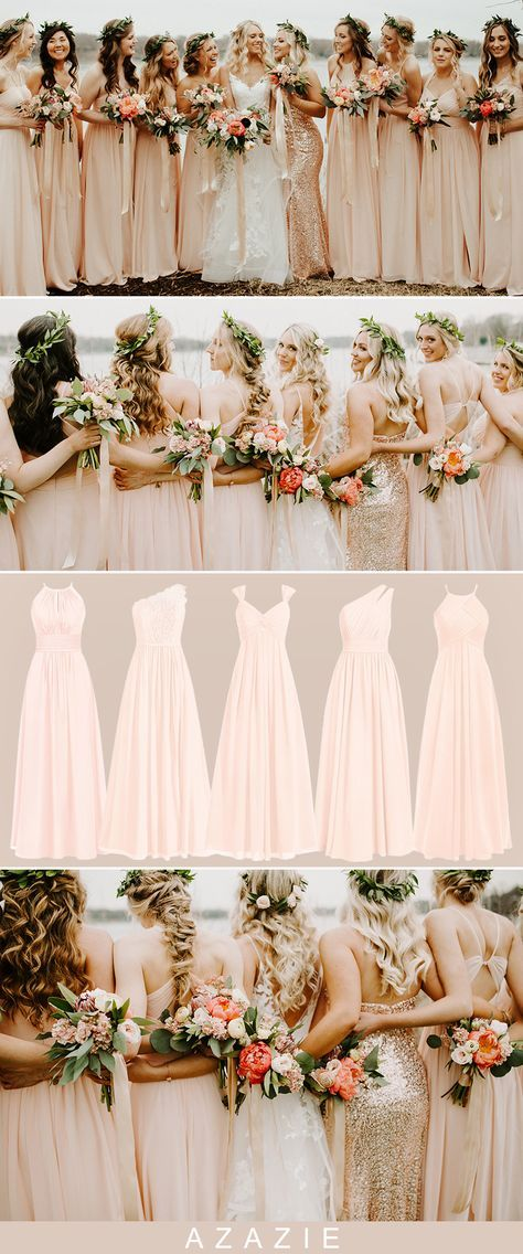 Azazie pearl pink bridesmaid dresses starting at $79 in 70+ colors. Shop the your bridesmaid dresses at azazie.com for your spring wedding and fall wedding. #azazie #azaziebridesmaiddresses #wedding #weddingcolors #weddingcolorideas #bridesmaiddresses #bridesmaiddress #bridesmaid #bridesmaids #maidofhonor #chiffonbridesmaiddress #bridesmaiddresseslong #lacebridesmaiddresses #fallwedding #fallweddingideas #fallweddingcolors