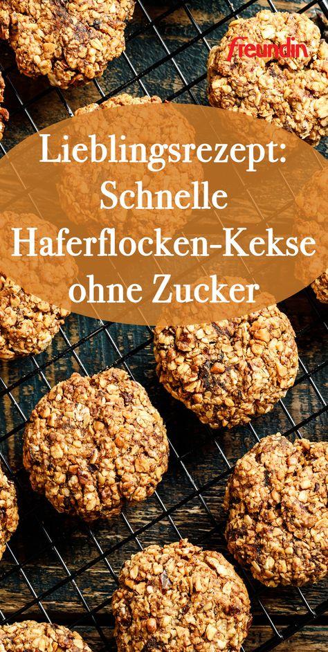 Dieses Rezept sollten Sie sich für ihre Gäste – egal ob groß oder klein – merken, denn die leckeren Haferflocken-Kekse benötigen nur vier Zutaten und sind unglaublich gesund