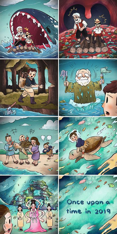 Thai Illustrator Makes Colorful Comics That Take Unexpected Turns And Here Are 18 Of The Best Ones | Bored Panda