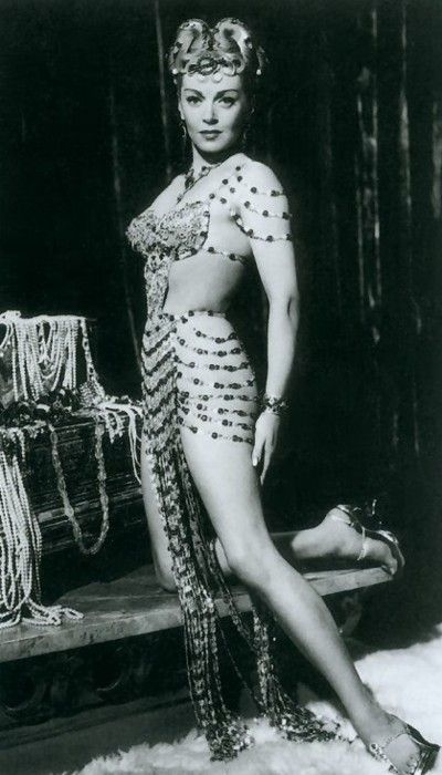"""Lana Turner in """"The Prodigal"""" (1955).  Miss Turner offered to make her wardrobe herself - she said """"they want it to be sexy and sexy is what they get"""""""