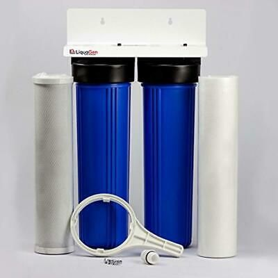 Ad Ebay Liquagen 2 Stage City Well Water Whole House Water Filtration System W 20 S In 2020 Water Filtration System Water Well Water Filtration