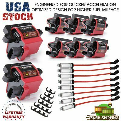 Advertisement Ebay 8pcs Square Ignition Coils Spark Wire For