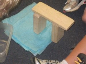 Today, the children were exploring the fairy tale – The Three Billy Goats Gruff – through their play in the block center.