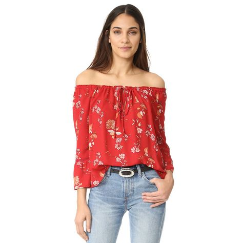 66fed2f5079c26 BB Dakota Soho Off the Shoulder Top ( 56) ❤ liked on Polyvore featuring tops