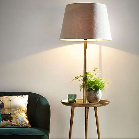 Side Table Floor Lamp   Side table lamps, Floor lamp, Large