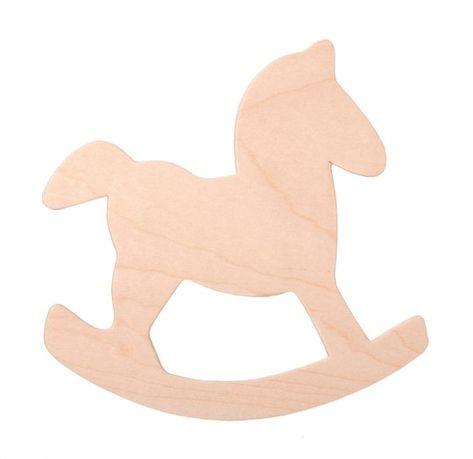 Baby Grey Polka Dot Ceramic Rocking Horse Ornament Nursery Christening 59393