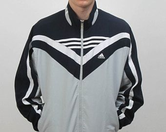 Original ADIDAS Vintage windbreaker athletic jacket with big