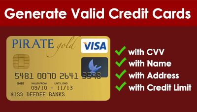 Fake Bank Account Number Generator in 12  Visa card numbers