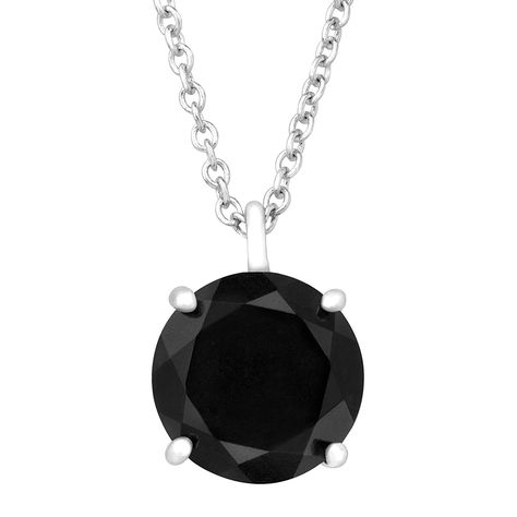 10 mm Natural Black Jade Pendant Necklace in Sterling Silver >>> Check out the image by visiting the link.-It is an affiliate link to Amazon. #Necklace