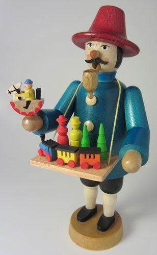ChristKindl-Markt - Blue Toy Dealer German Smoker SMD146X294B, $69.49 (http://www.christkindl-markt.com/blue-toy-dealer-german-smoker-smd146x294b/)