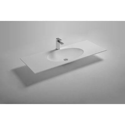 Ideavit Solidzelig 47 Single Bathroom Vanity Top With Oval Shape Basin Sink Bathroom Vanity Tops Single Bathroom Vanity