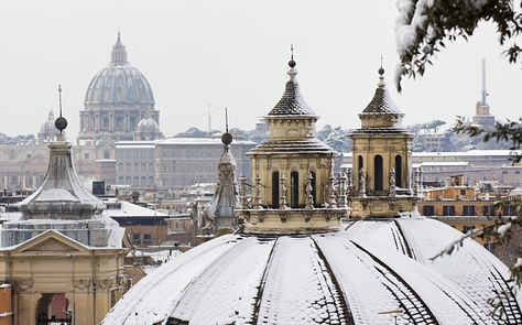 A view across the city from the Villa Borghese gardens