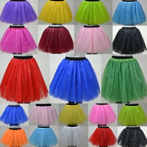 Weiß Tütü Tüllrock Balletkleid 3 Lagen Mädchen Kinder Party Fasching Petticoat