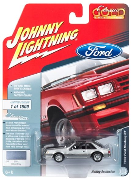 Johnny Lightning 1 64 Special Release 1982 Ford Mustang Silver With Images Ford Mustang Lightning Cars Mustang