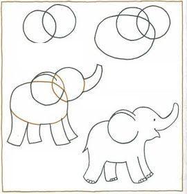 Youtube Ilkokulu Hayvan Resimleri In 2020 Malen Und Zeichnen Elefant Zeichnung Kunststunden