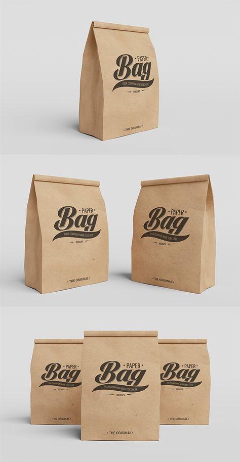 Download Kraft Paper Bag For Food In 2020 Mockup Free Psd Food Mockup Psd Mockup Template