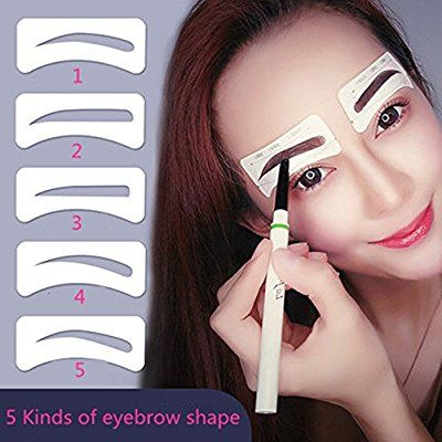 10 Pairs Augenbrauen Schablone Vanyda Einweg 5 Stil Eyebrows Grooming Stencil Kit Augenbraue Pflege Ges Augenbrauen Schablone Augenbrauen Augenbrauen Formen