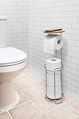 Jackcubedesign Jackcube Design Toilet Tissue Paper Holder Stand With Bamboo Shelf Bamboo Shelf Mk466a Tissue Paper Holder Toilet Tissue Paper