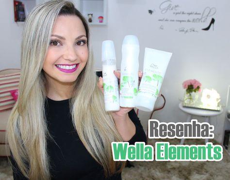 Resenha: Wella Elements /shampoo, condicionador e  leave in http://www.euvouderosa.com/2015/10/resenha-wella-elements-shampoo-condicionador-e-leave-in.html