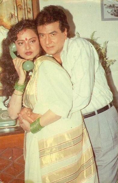 Geetanjali, 1993 #Rekha #Jeetendra | Rekha actress, Bollywood actors,  Beautiful women naturally