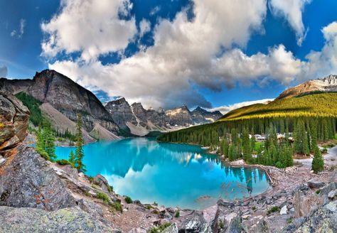 Peyto Lake Or Moraine Lake Banff National Park Alberta Canada