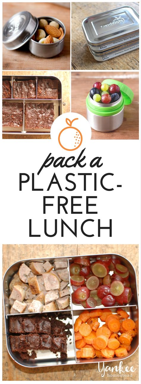Pack a Plastic-Free Lunch with LunchBots Stainless Steel Containers | Yankee Homestead