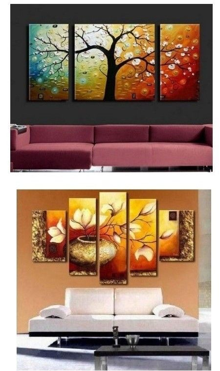 3 Piece Abstract Artwork Tree Of Life Painting Living Room Canvas Painting 80 Inch Wall Art Large Oil Painting Wall Art Living Room Living Room Canvas Painting Living Room Canvas #painting #art #for #living #room
