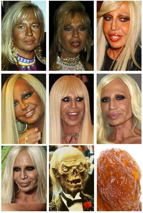 Evolución de Donatella Versace.