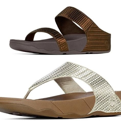 98a5cf112b These flip-flops travel well! Great for lots of walking! FIT FLOPS in the  new weave pattern.