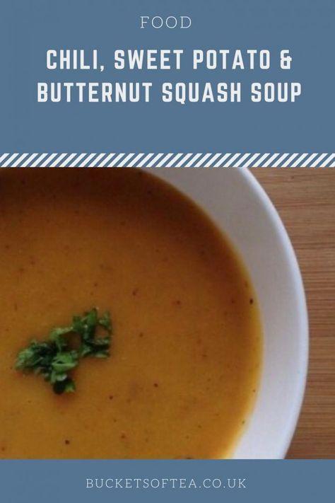 Chili Sweet Potato Butternut Squash Soup Soup Recipes