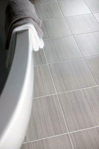 Quadratische Badezimmer Grau Fliesen Ideen Mit Weissem Bewurf Source By Francesgala The Post Quadratisches Badezimm Banyo Fayansi Gri Banyo Banyo Yer Karolari