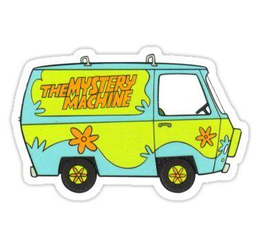 'Scooby Doo Mystery Machine' Sticker by imuncomfortable