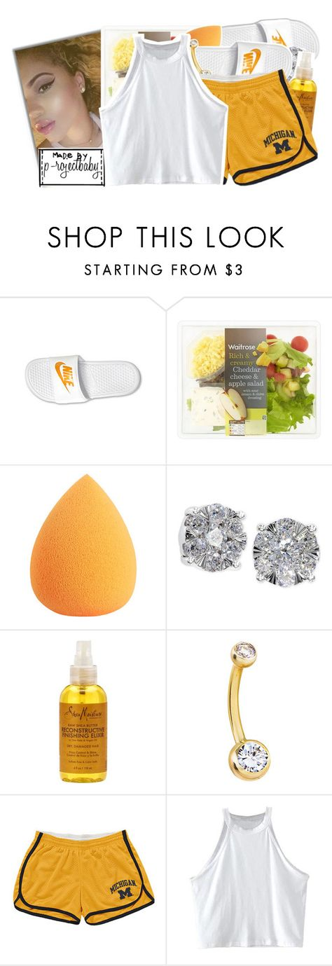 """""""« and you know what i need from you when i get home »"""" by p-rojectbaby ❤ liked on Polyvore featuring NIKE, Effy Jewelry and SheaMoisture"""